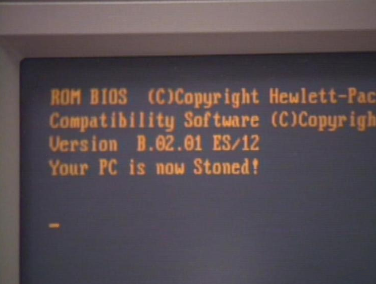 "Stoned is a master boot record virus that printed the message ""Your PC is now Stoned!"""